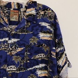 Pineapple Collection | Electric Blue Dad Shirt